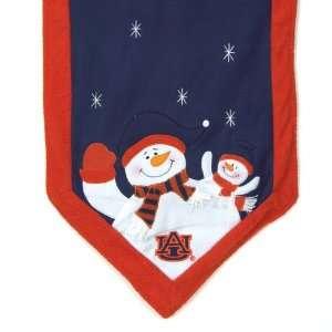 of Auburn Tigers Snowman Christmas Table Runner