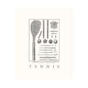 Tennis Racquet (Seri) Poster Print  Home & Kitchen