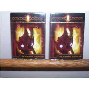 Iron Man Playing Cards (Sold As 2 in a Set) Toys & Games