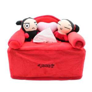 : Pucca Valentine Day Gift I Love You Tissue Box Holder: Toys & Games