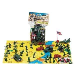2 Inch Army Men Soldier Battle Set with Flag: Toys & Games