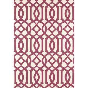 Imperial Trellis Raspberry by F Schumacher Wallpaper Home