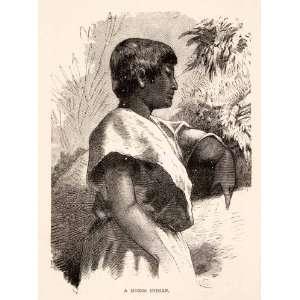 1878 Wood Engraving Bolivia Moxo Indian Mojo Indigenous Tribal Tribes