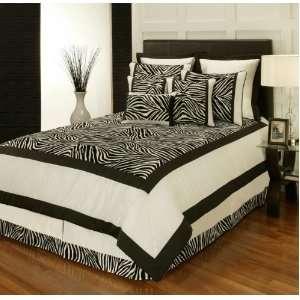 Sherry Kline Zuma Wild Style Black/ White 7 piece QUEEN