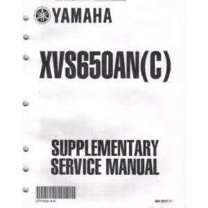 2003 Yamaha XVS650 Service Manual Supplement Yamaha Motors Books