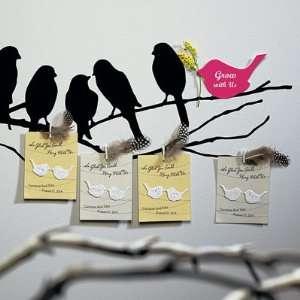 Seed Paper Love Bird Favor Cards   12 Pack   Eco Friendly