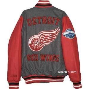 Detroit Red Wings Grey Wool Varsity Jacket (Small & Medium
