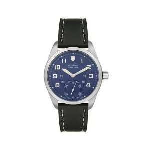Victorinox Swiss Army, Black Leather Band Blue Dial   Men