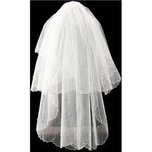 Tanday #7818 Ivory Double Layer Bridal Wedding Veil