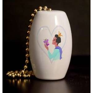 Prince of Hearts Porcelain Fan / Light Pull Home