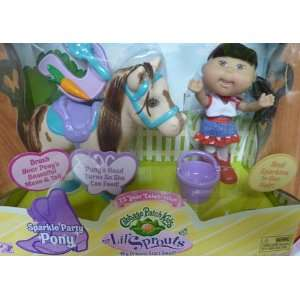 Cabbage Patch Kids Lil Sprouts Sparkle Party Pinto Pony Doll Playset