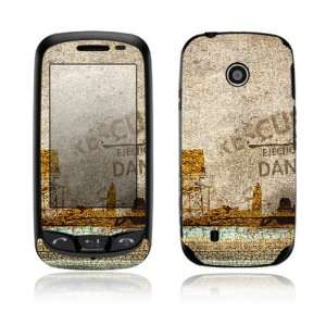 Danger Design Decorative Skin Cover Decal Sticker for LG Cosmos Touch