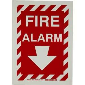 Glow In The Dark Fire And Exit Sign, Legend Fire Alarm (With Picto