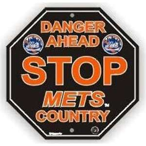 Stop Sign   MLB Baseball   New York Mets Danger Ahead Beauty