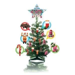 2 ft. tall xmas tree w/24 xxxmas ornaments Everything