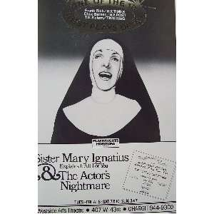 SISTER MARY IGNATIUS EXPLAINS IT ALL (ORIGINAL BROADWAY THEATRE WINDOW
