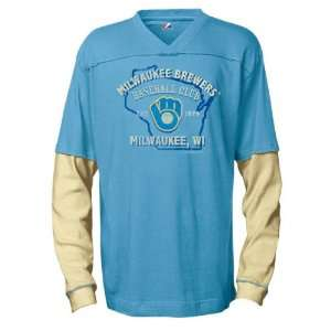 Milwaukee Brewers Cooperstown Double Play Long Sleeve 2 Fer Shirt