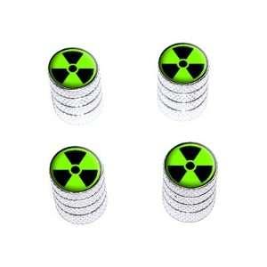 Radioactive on Green   Tire Rim Wheel Valve Stem Caps