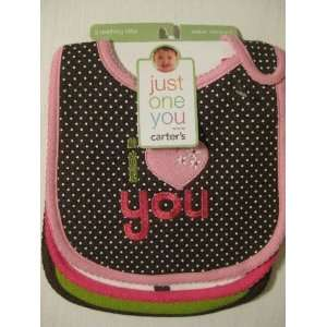 Carters Girls I Love You Bibs, Set of 3 Baby