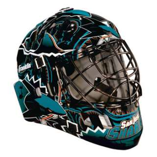 San Jose Sharks NHL Team SX Comp GFM 100 Youth Goalie Mask   NHL