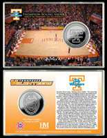 Tennessee Volunteers Lady Vols Thompson Boling Arena Silver Coin Card