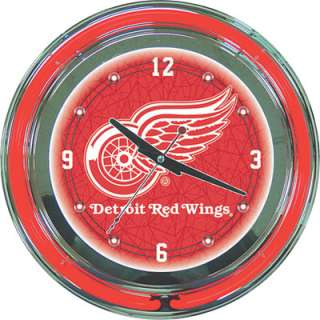 Neon Clock — NHL Detroit Red Wings Logo  www.kotulas  Free
