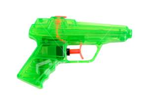 Green Water Gun Royalty Free Stock Photo