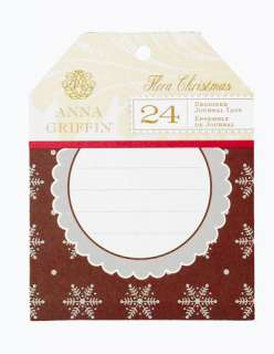 Anna Griffin   The Flora Christmas Collection   Journal Tags