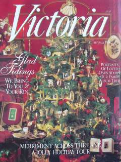 December 1996 VICTORIA MAGAZINE MERRIMENT ACROSS THE LAND A JOLLY