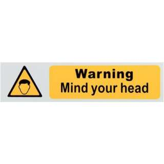Caution Mind your head Sign   Health & Safety Signs   Workwear  Tools