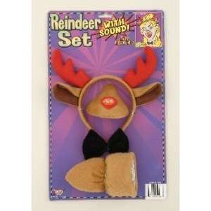 Christmas Rudolph Red Nose Reindeer Nose Costume Set