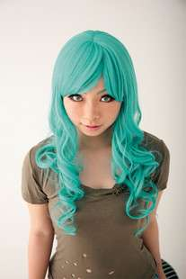 BLEACH Neliel Anime Cosplay Medium Green Hair Wig M71