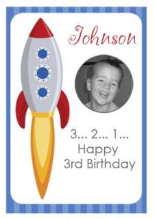 Boys Space Rocket Theme Birthday Cake Edible Images Icing For Sale