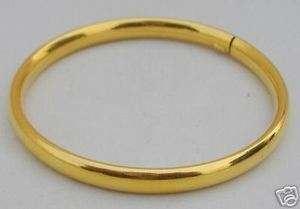 18 k GOLD BRACELET BANGlE PLANE UNPLATTED JEWELRY KADA