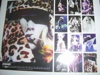 Lady Gaga UK Monster Ball Tour 2011 Calendar (Sealed)