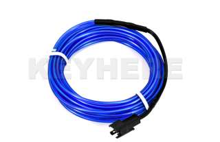 3M Flexible Blue Neon EL Light Glow Wire Rope Car Party