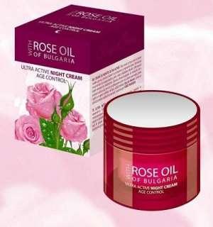 "Bulgaria"" ULTRA ACTIVE NIGHT CREAM + Pure Bulgarian Rose oil"