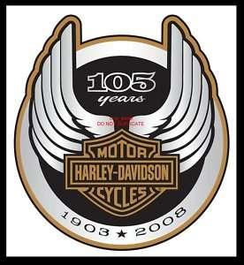 HARLEY DAVIDSON 105TH ANNIVERSARY LOGO DECAL **NEW**