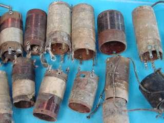 Lot of 28 Antique Shortwave Ham Radio Coils Tube Parts Variometer
