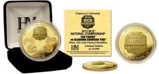 LSU vs Alabama 2012 BCS National Championship Game 24KT Gold