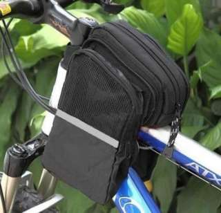 Bike Cycling Equipment Bicycle Front Tube Bag Black