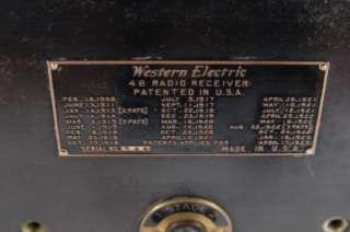 1923 western electric model 4b 4 b radio receiver serial for Us electric motor serial number lookup