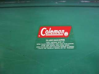 COLEMAN #413F TWO BURNER GAS STOVE.FULLY TESTED, CLEANED, WORKS GREAT