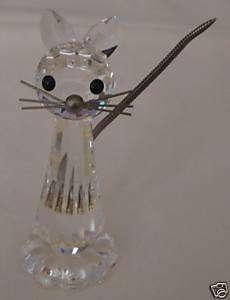 Vintage SWAROVSKI CRYSTAL CAT FIGURINE
