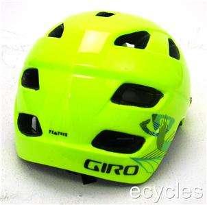 Giro FEATURE Mountain Bike Helmet Highlight Yellow Bright Green MEDIUM