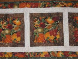 Handmade Quilted Table Runner Christmas Thanksgiving