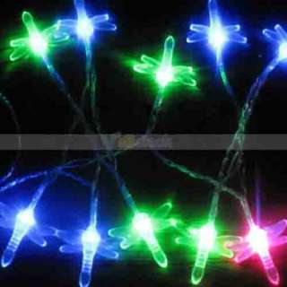 New Battery Powered LED Light Colored Lamp (Dragonfly)