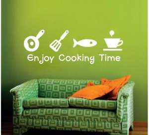 Kitchen Deco Wall Graphic Sticker Decal ★ Cooking Time