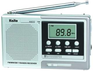 11 Band Shortwave Digital Radio Receiver w/ Alarm Clock! Free Shipping