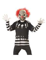 Costumes Boys Glow In the Dark Evil Clown Kids Scary Costume XL